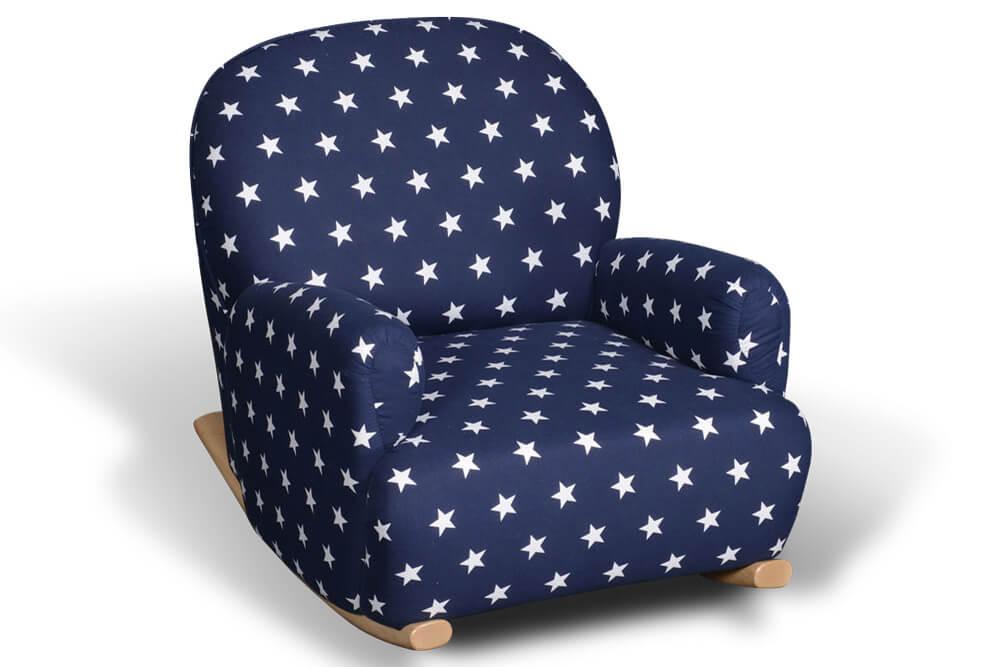 bequemer kindersessel mit schaukelkufen aus holz. Black Bedroom Furniture Sets. Home Design Ideas