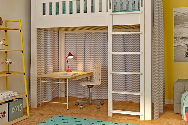 Schreibtisch-KINTO-Hochbett