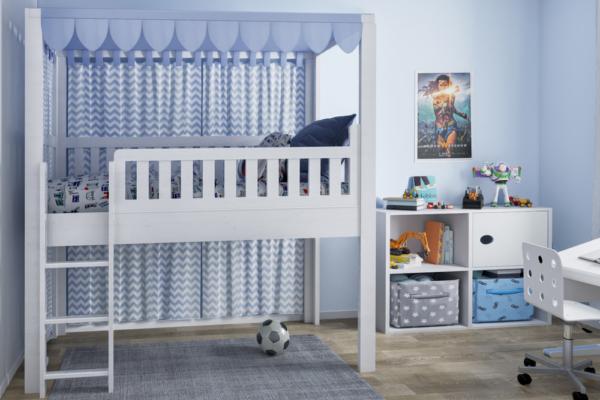 Spielbett LISTO-2 frontal shop