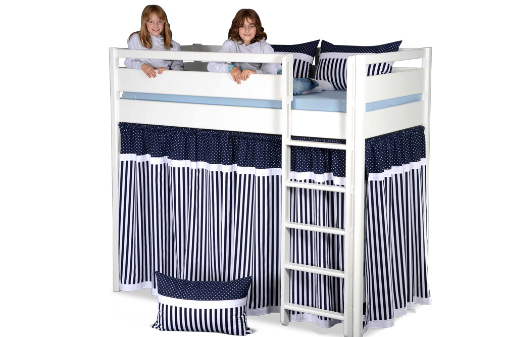 3-seitiger Bettvorhang für das Hochbett KINTO. Hersteller: SALTO