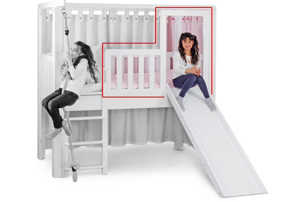 Listoflex Umbausatz Zum Bett Mit Rutsche Kinderzimmer 24de
