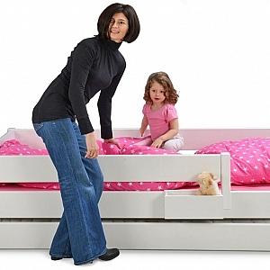 weiß lackiertes Kinderbett KINTO mit Gästebett Kindermöbel SALTO München