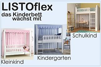 Kinderbett LISTOflex - umbaubar und mitwachsend / SALTO Kinderbetten München